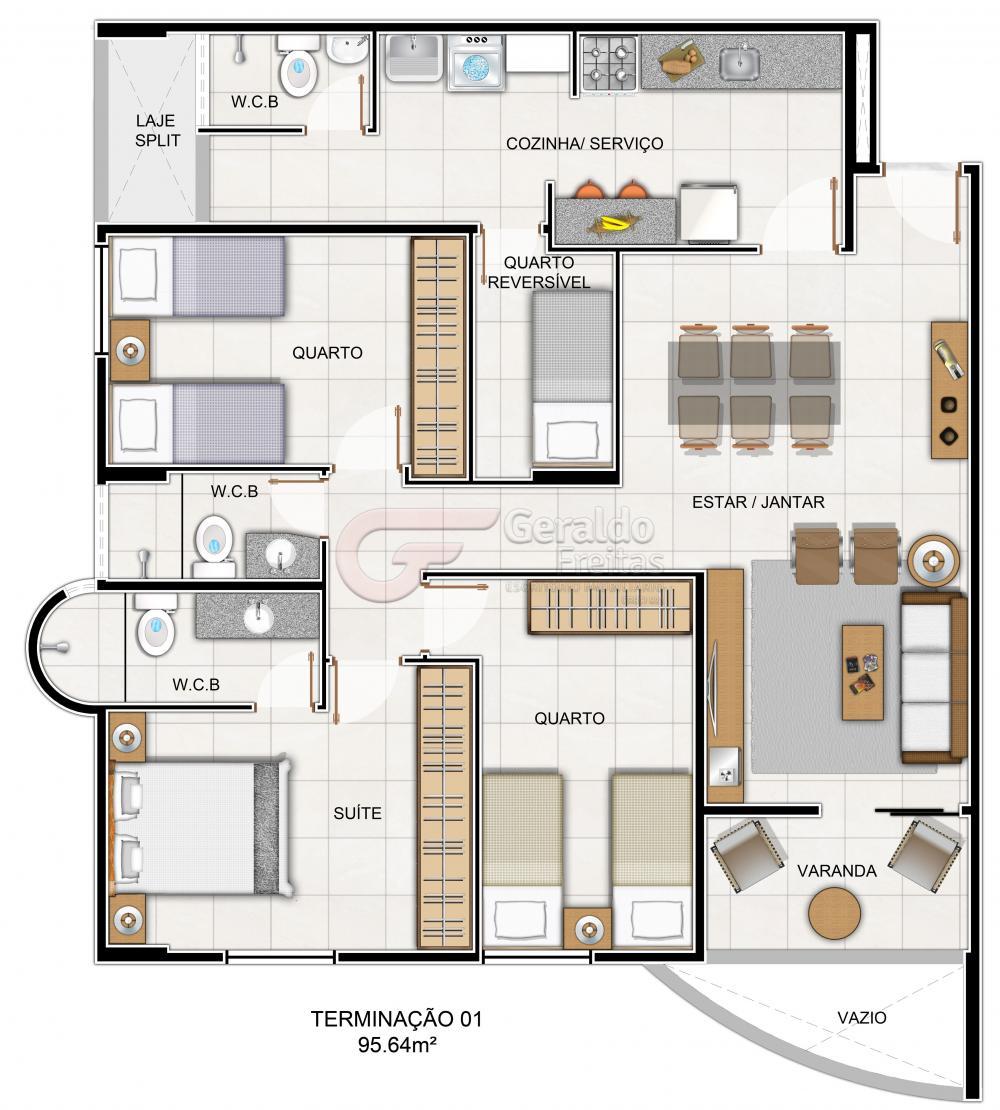 Alugar Apartamentos / 03 quartos em Maceió. apenas R$ 407.781,45